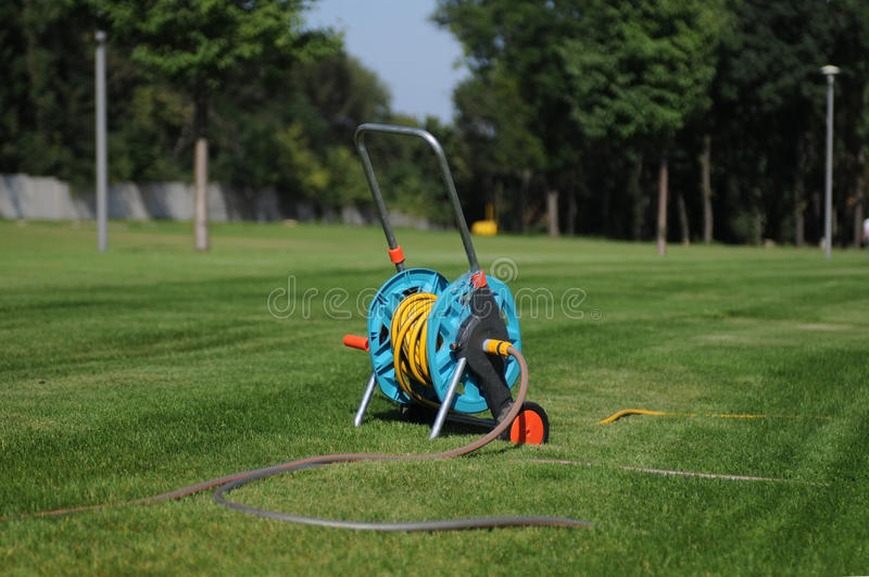 Hose In The Park Stock Photo