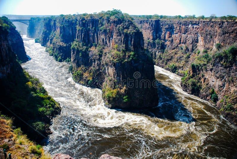 Hoseshoe em Victoria Falls imagens de stock royalty free