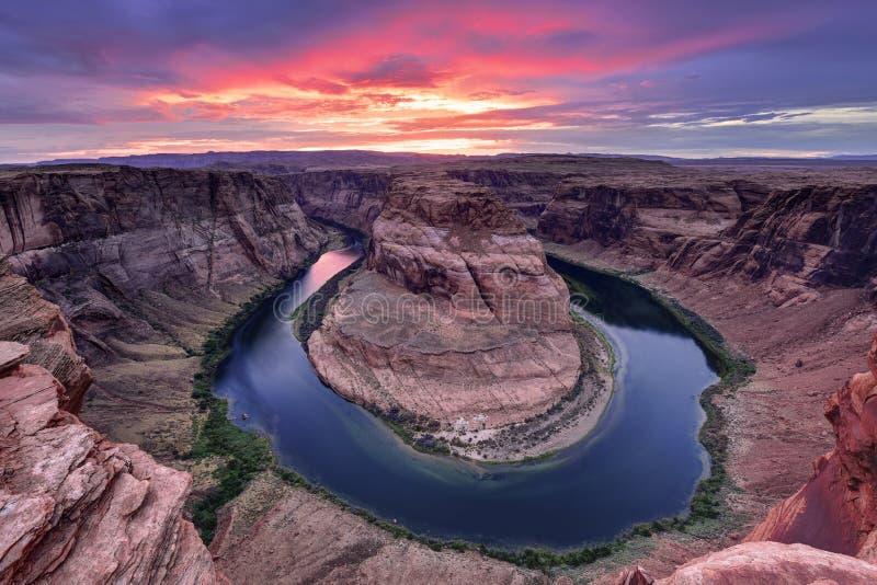 Hoseshoekromming, de Rivier van Colorado royalty-vrije stock afbeeldingen