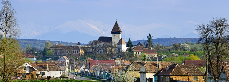 Hosman village in Transylvania, Romania royalty free stock photo