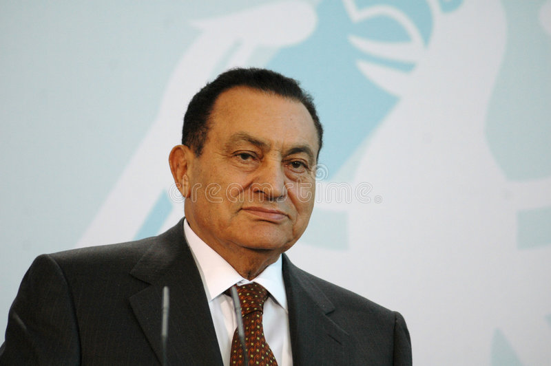 Hosni Mubarak royaltyfri bild