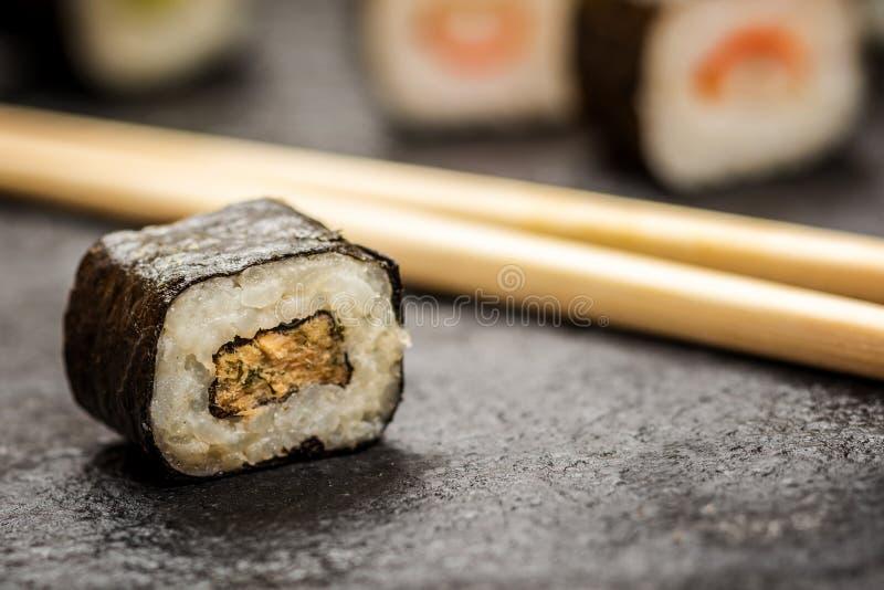 Hosomaki de los rollos de sushi imagen de archivo