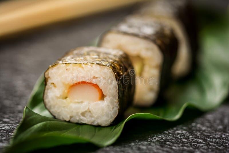 Hosomaki de los rollos de sushi fotos de archivo