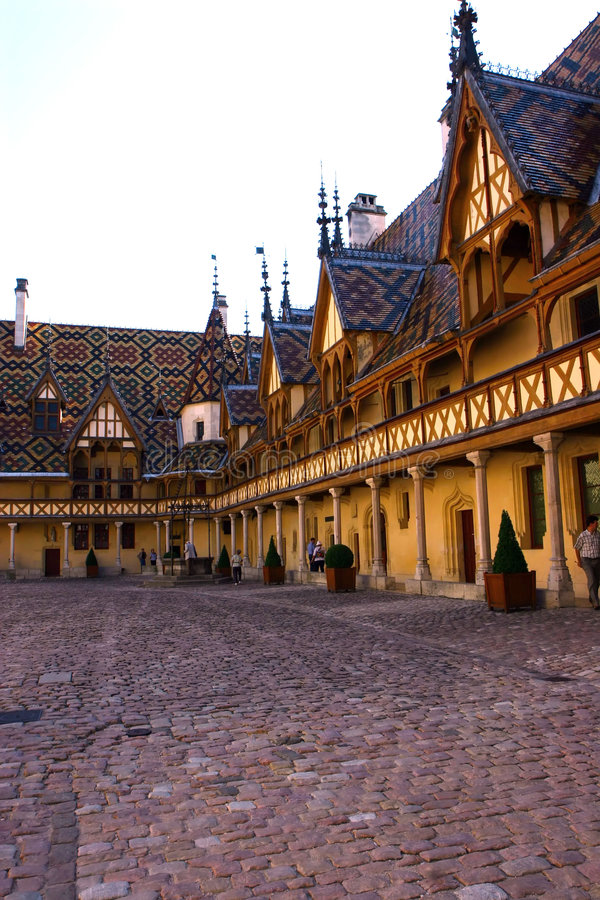 Hospício em Beaune France imagem de stock