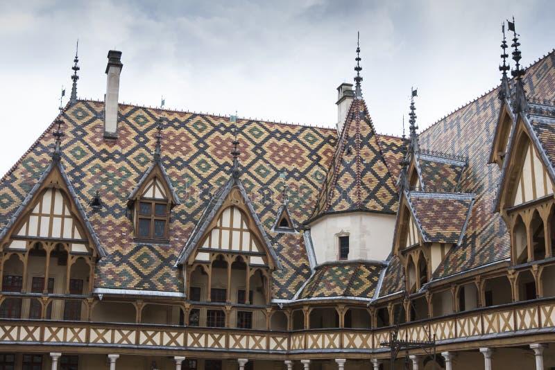 Hospícios de dieu em Borgonha fotos de stock