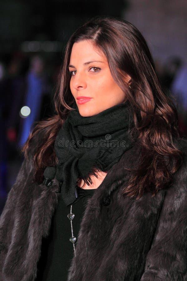 Hospedeira italiana Letizia Filippi da televisão fotos de stock