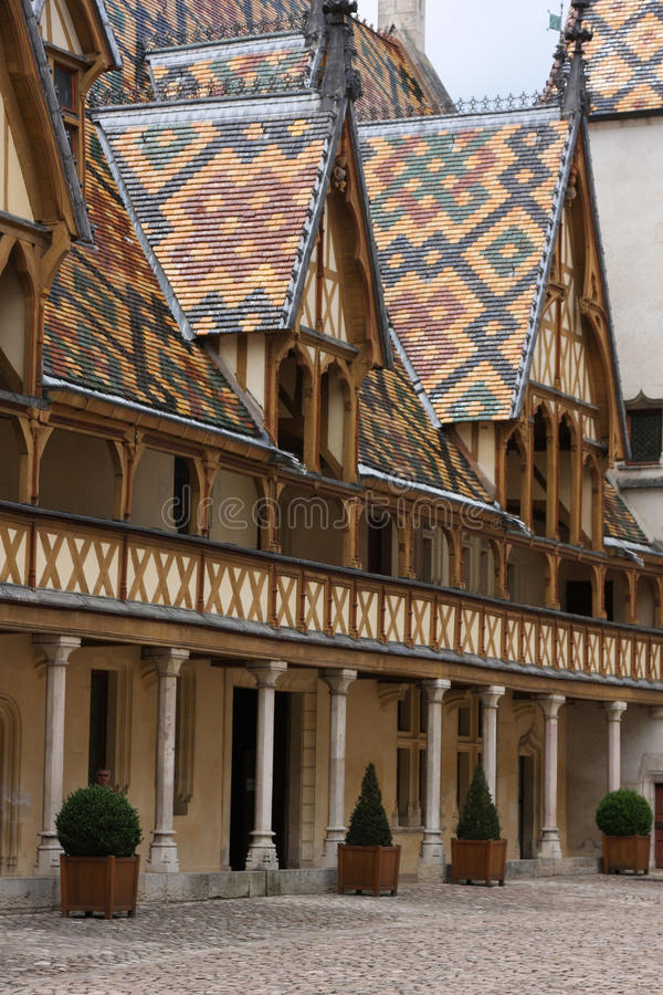Hospices in Beaune royalty free stock images