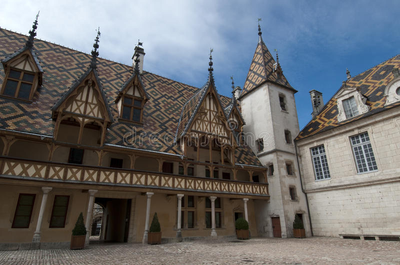 Hospices de Beaune. In the Burgundy area in France stock image