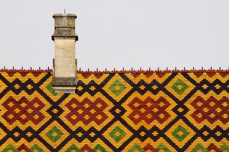 Hospices de Beaune. Roof of hospice de Beaune in Burgundy royalty free stock image