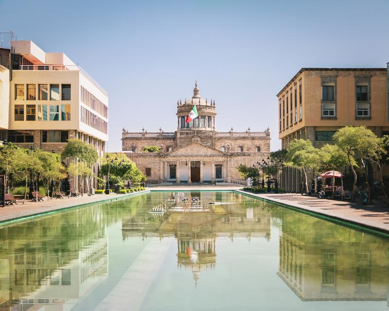Hospicio小屋小屋文化学院-瓜达拉哈拉,哈利斯科州,墨西哥 免版税库存图片