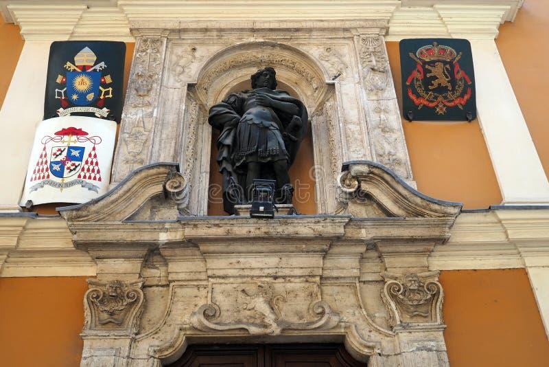 Hospicio del St juliano del Flemings en Roma, Italia imagenes de archivo
