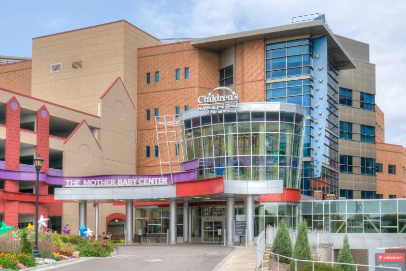 Hospitais do ` s das crianças e clínicas de Minnesota imagem de stock