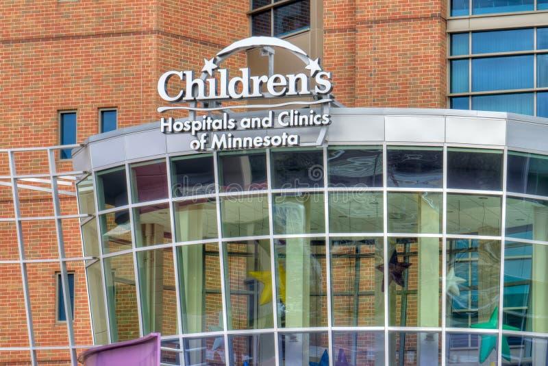 Hospitais do ` s das crianças e clínicas de Minnesota fotografia de stock