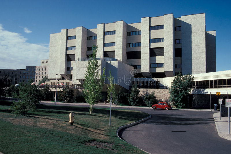 Hospital. Building Saskatoon, Saskatchewan, Canada stock photography