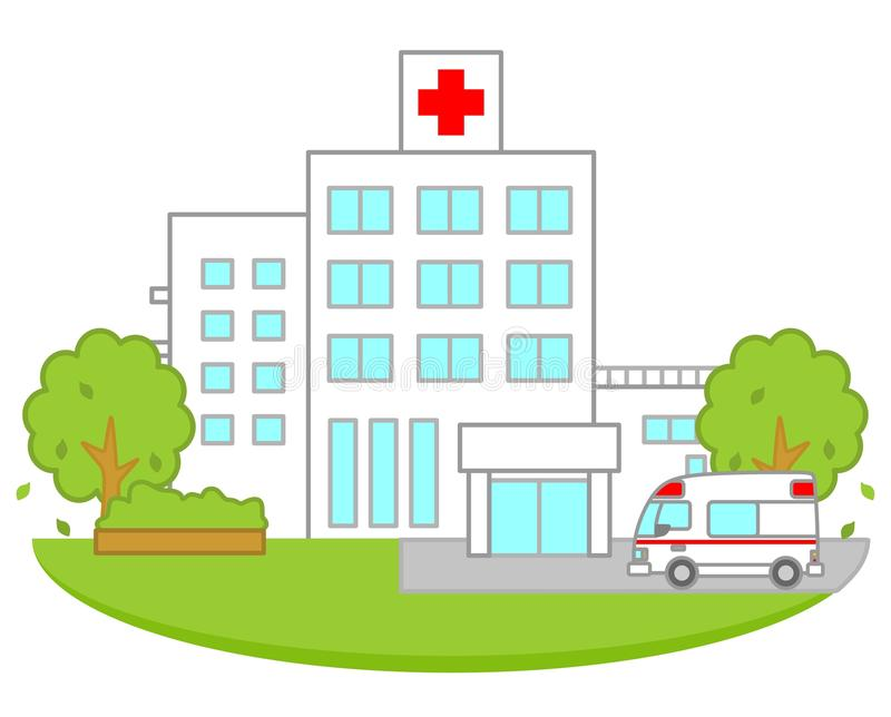 Hospital stock illustration