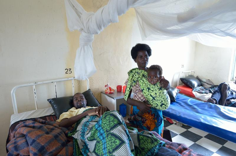 Hospital africano fotografía de archivo