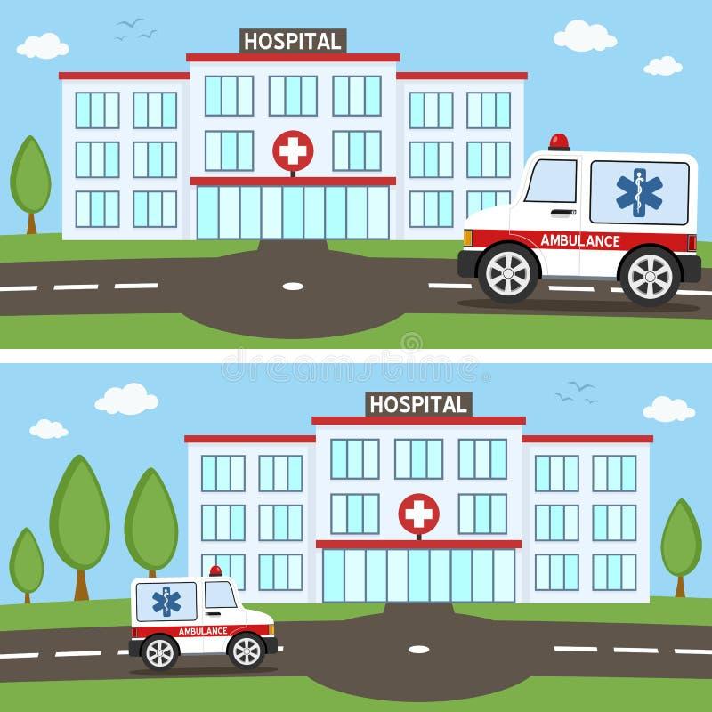 Hospital & Ambulance Car Banners royalty free illustration