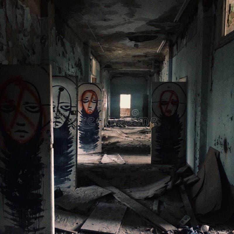 Hospital assustador de Rússia fotos de stock