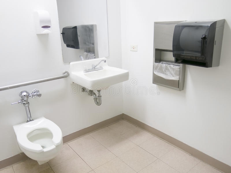 Hospital bathroom stock image image of handrail disabled 32939229 for Paper towel dispensers for bathrooms