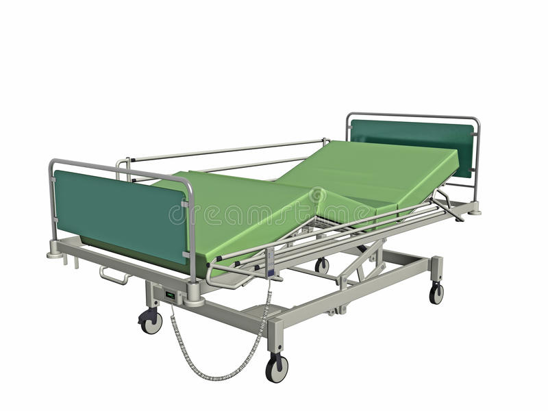 Download Hospital bed stock illustration. Image of rendering, isolated - 16587111