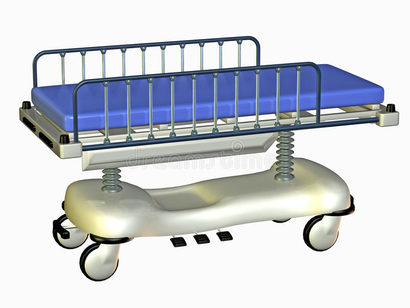 Download Hospital bed stock illustration. Image of wheel, rail - 16682821