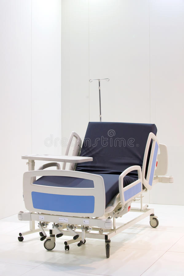 Hospital bed. Photo of a Hospital bed royalty free stock image