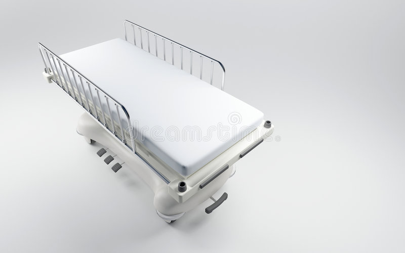 Hospital bed royalty free illustration
