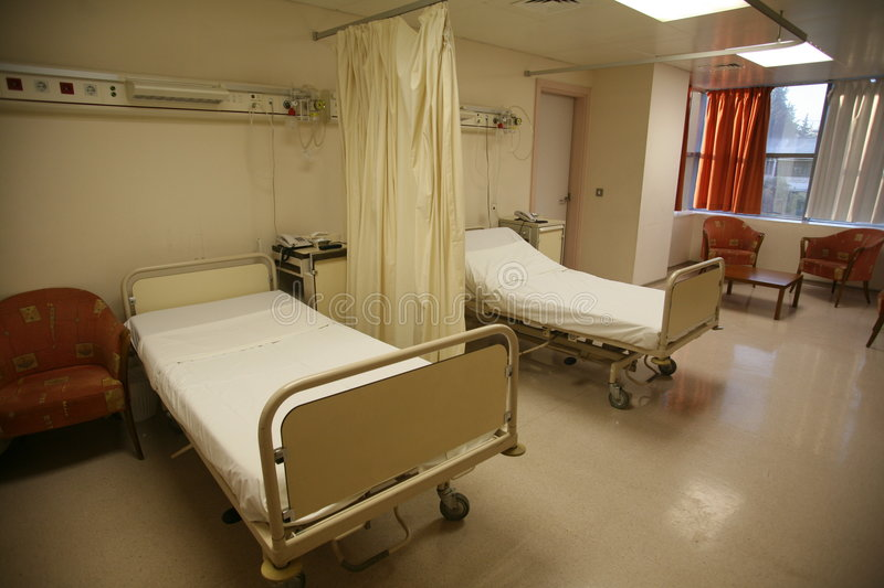 Hospital bed bedroom royalty free stock photography