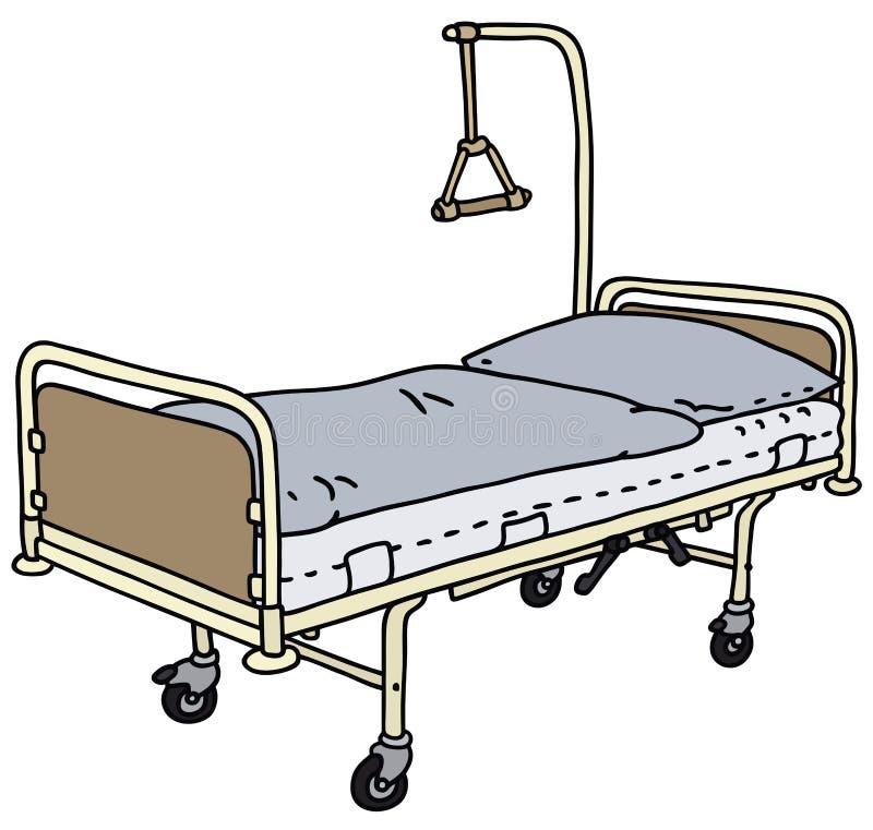 hospital bed stock vector illustration of vector recline