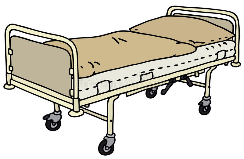 Hospital bed vector illustration
