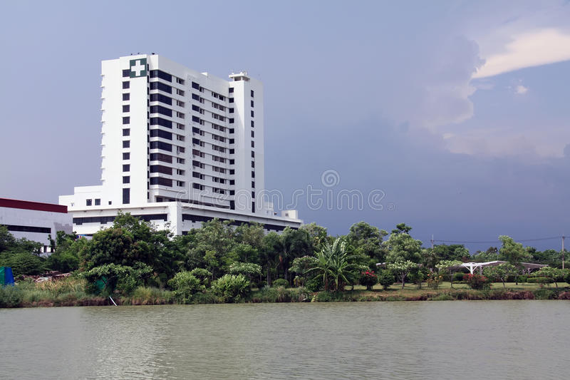 Hospital building. For medical in thailand stock photo