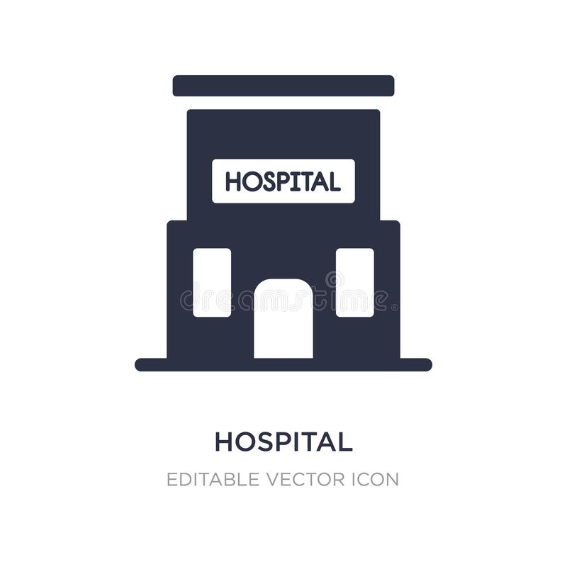 hospital building front icon on white background. Simple element illustration from Medical concept vector illustration