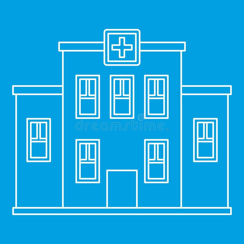 Hospital building icon, outline style royalty free illustration