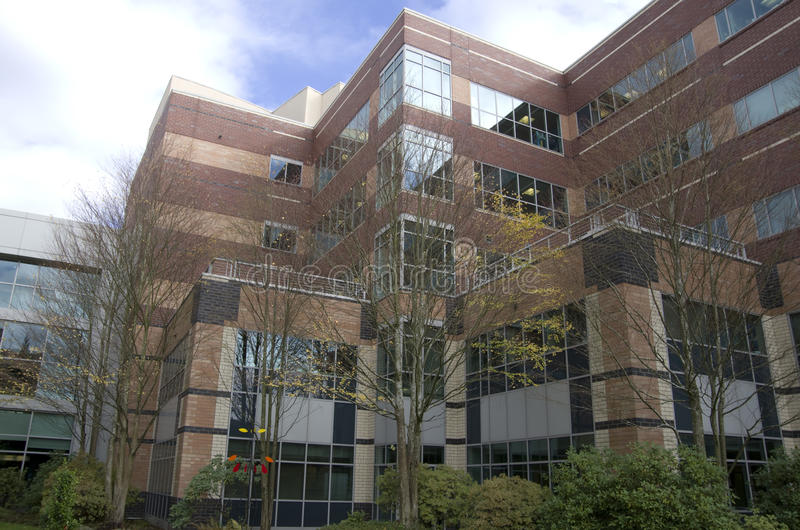 Hospital building. A hospital building near Seattle royalty free stock photos
