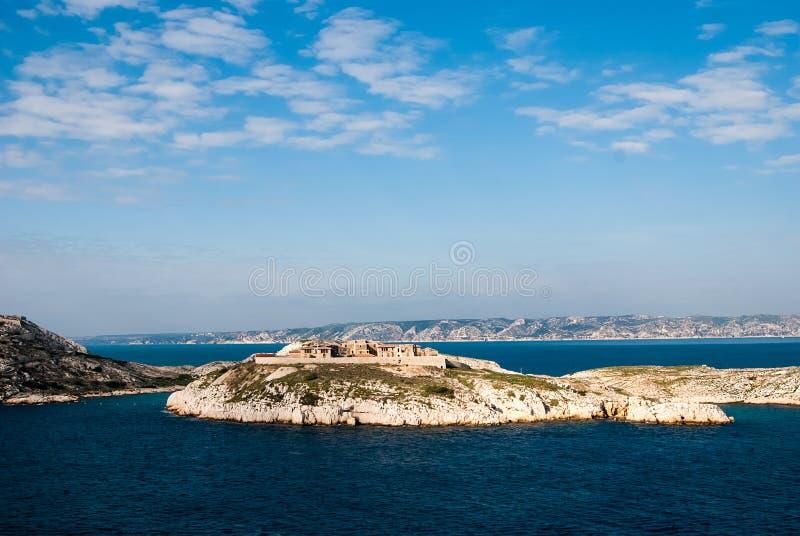 Hospital Caroline on Ratonneau island, Marseille royalty free stock photography