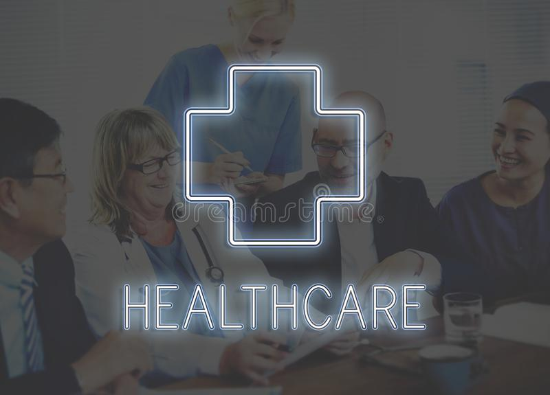 Medical and healthcare icon graphic concept royalty free stock photography