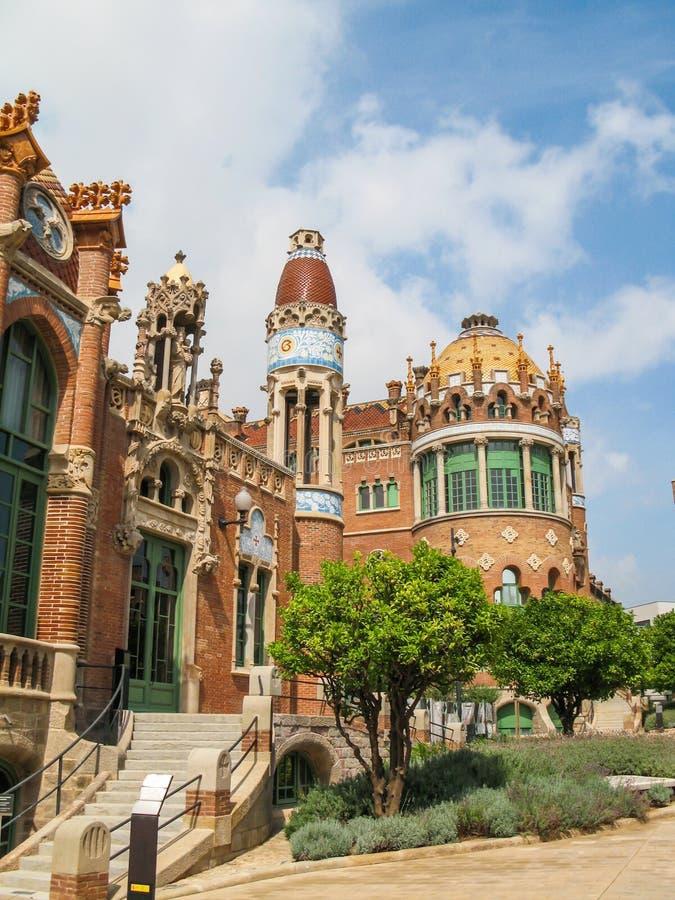 Hospital da cruz e de Saint Paul santamente, Barcelona, Espanha fotos de stock royalty free