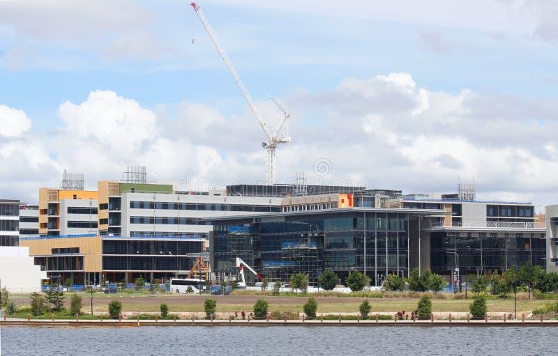 Hospital da universidade da costa da luz do sol sob a construção imagens de stock royalty free