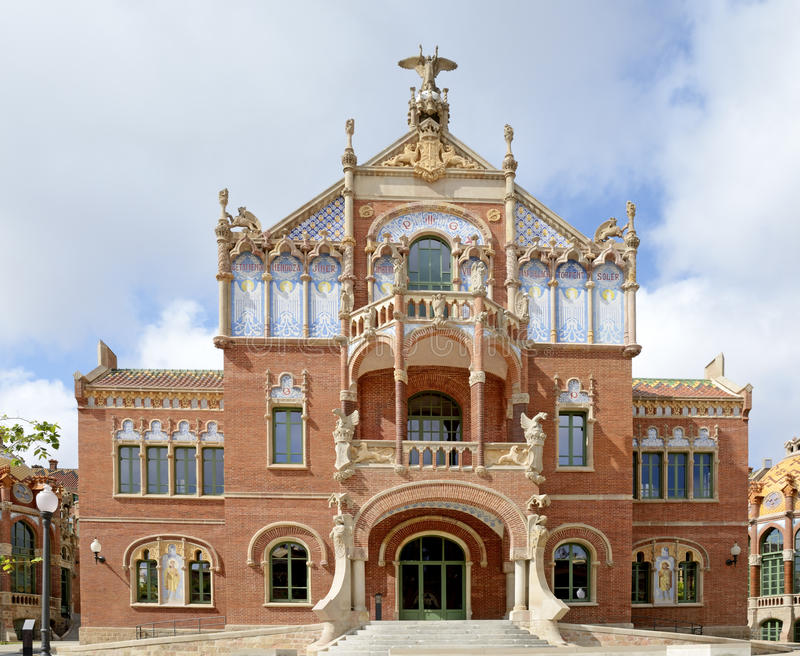 Hospital de Λα Santa Creu, παγκόσμια κληρονομιά Βαρκελώνη, Ισπανία της Πάου-ΟΥΝΕΣΚΟ Sant στοκ εικόνες
