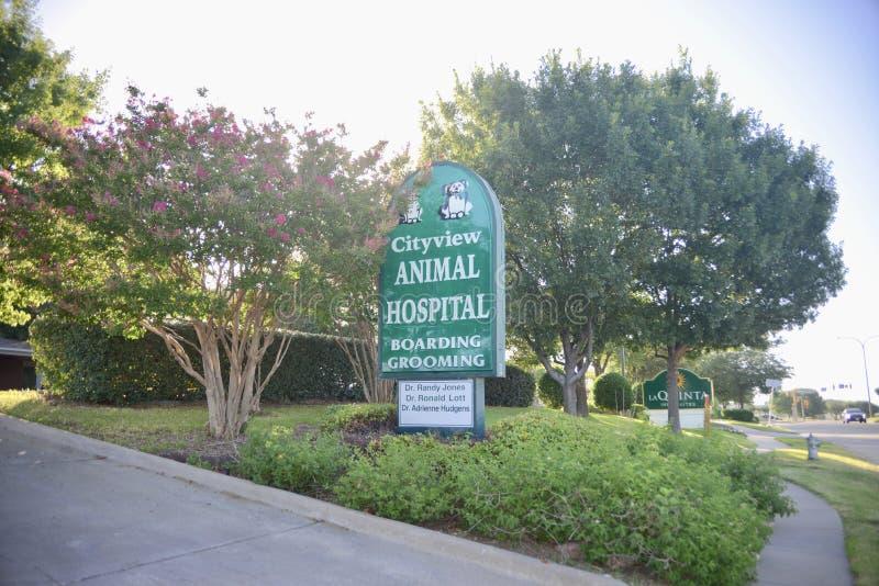 Hospital de animais de Cityview, Fort Worth, Texas imagens de stock