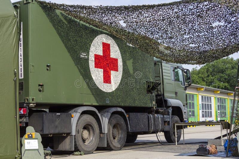 Hospital de campaña militar alemán foto de archivo libre de regalías