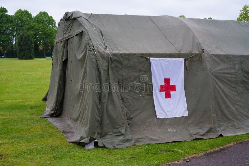 Hospital de campanha militar imagens de stock