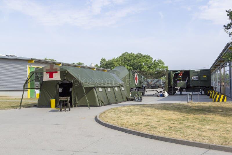 Hospital de campanha militar alemão imagens de stock