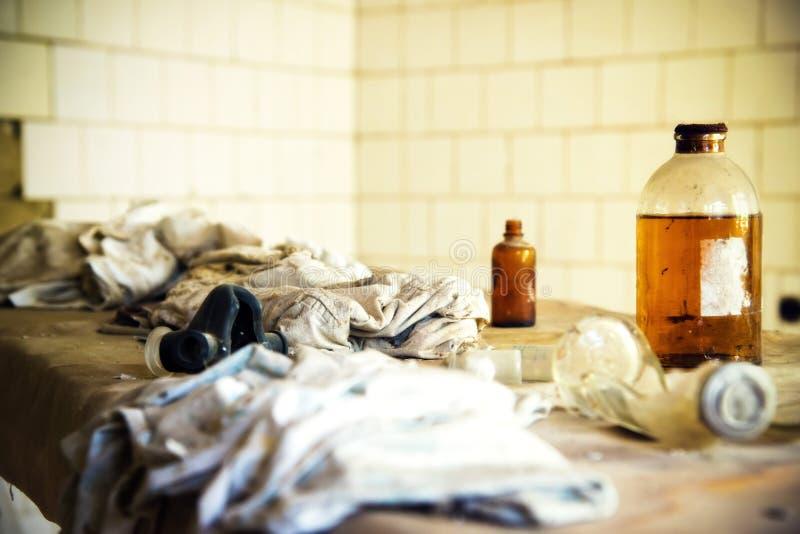 Hospital de Chernobyl Pripyat imagens de stock