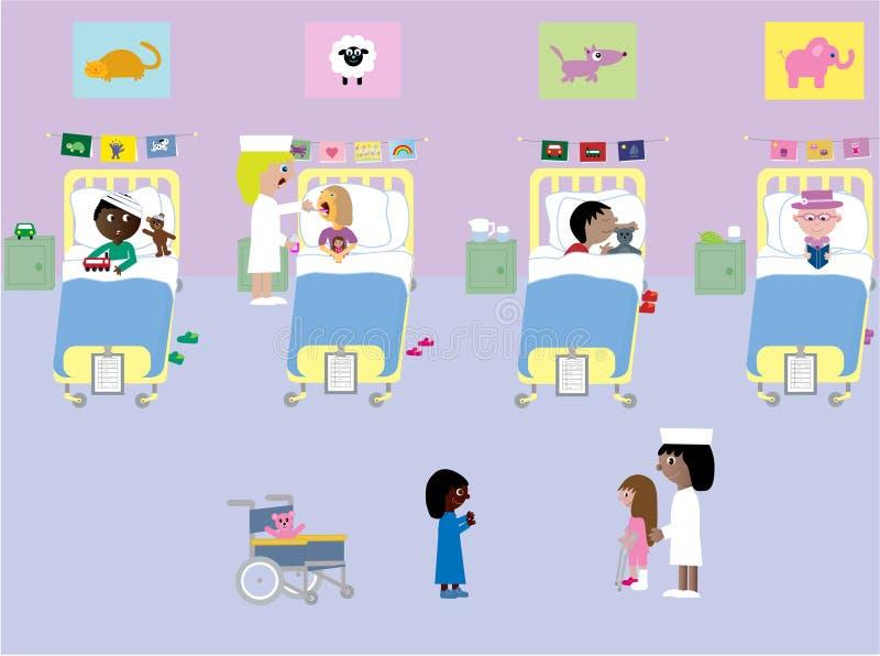 Hospital de Children´s ilustração stock