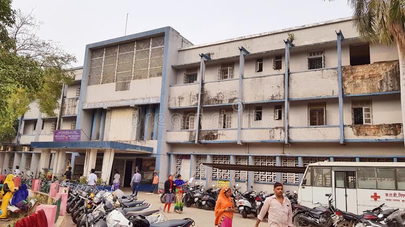 Hospital de Employees State Insurance Corporation de Indore imágenes de archivo libres de regalías