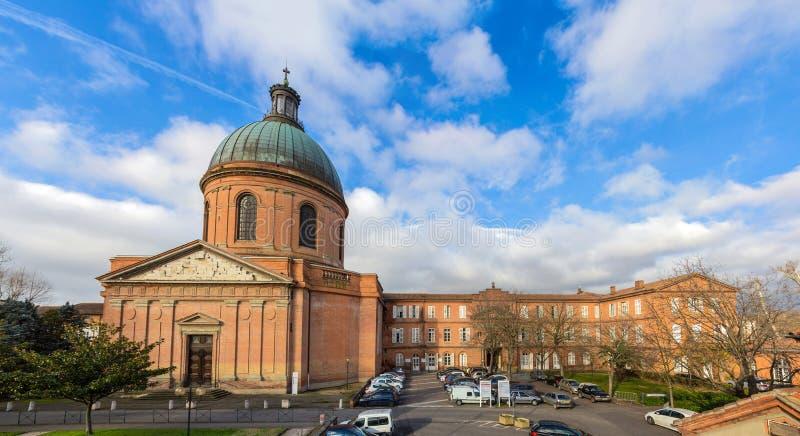 Hospital de La Grave en Toulouse, Francia fotografía de archivo
