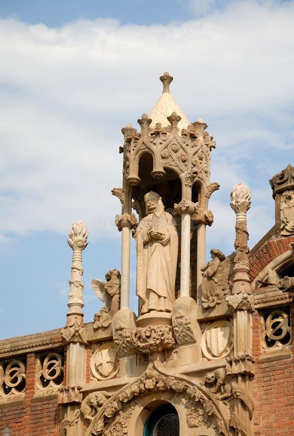 Hospital de la Santa Creu em Barcelona imagens de stock