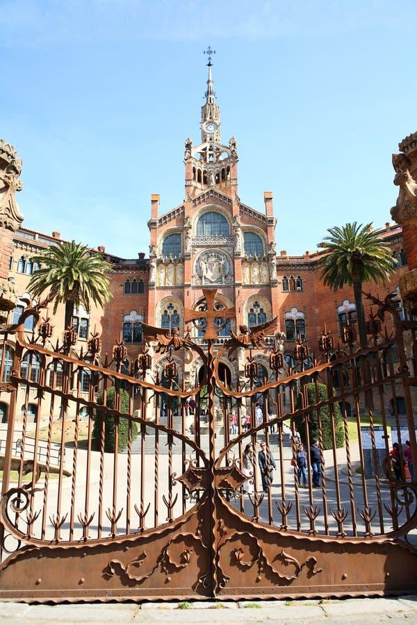 Hospital de la Santa Creu mim de Sant Pau imagens de stock