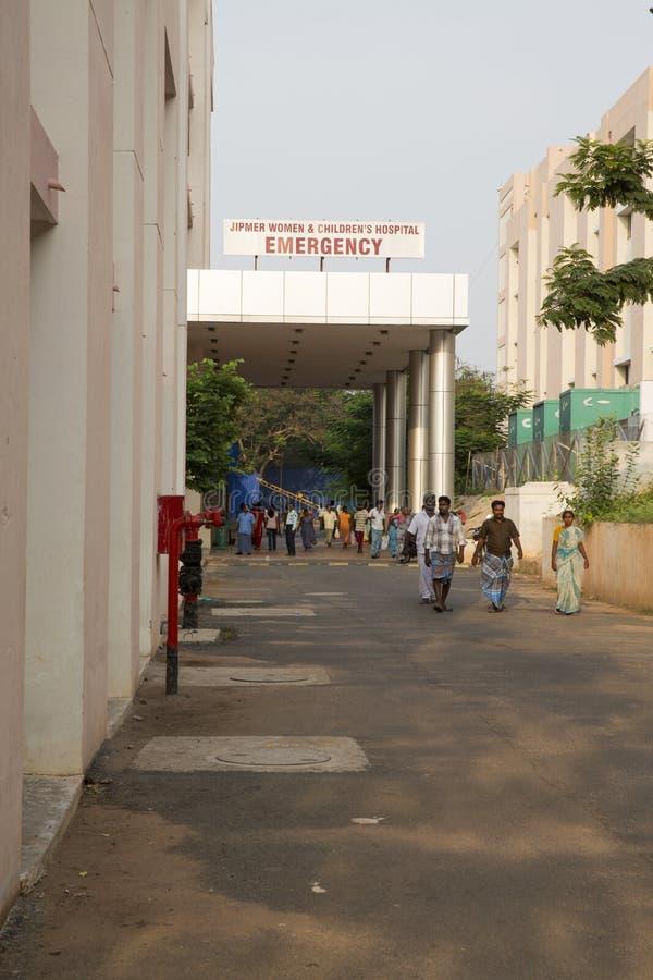 Hospital de Pondicherry, Índia - 1º de junho de 2014 fotos de stock royalty free